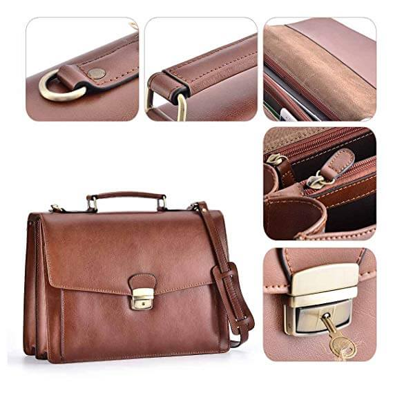 Top 10 Best Leather Briefcases Review-10