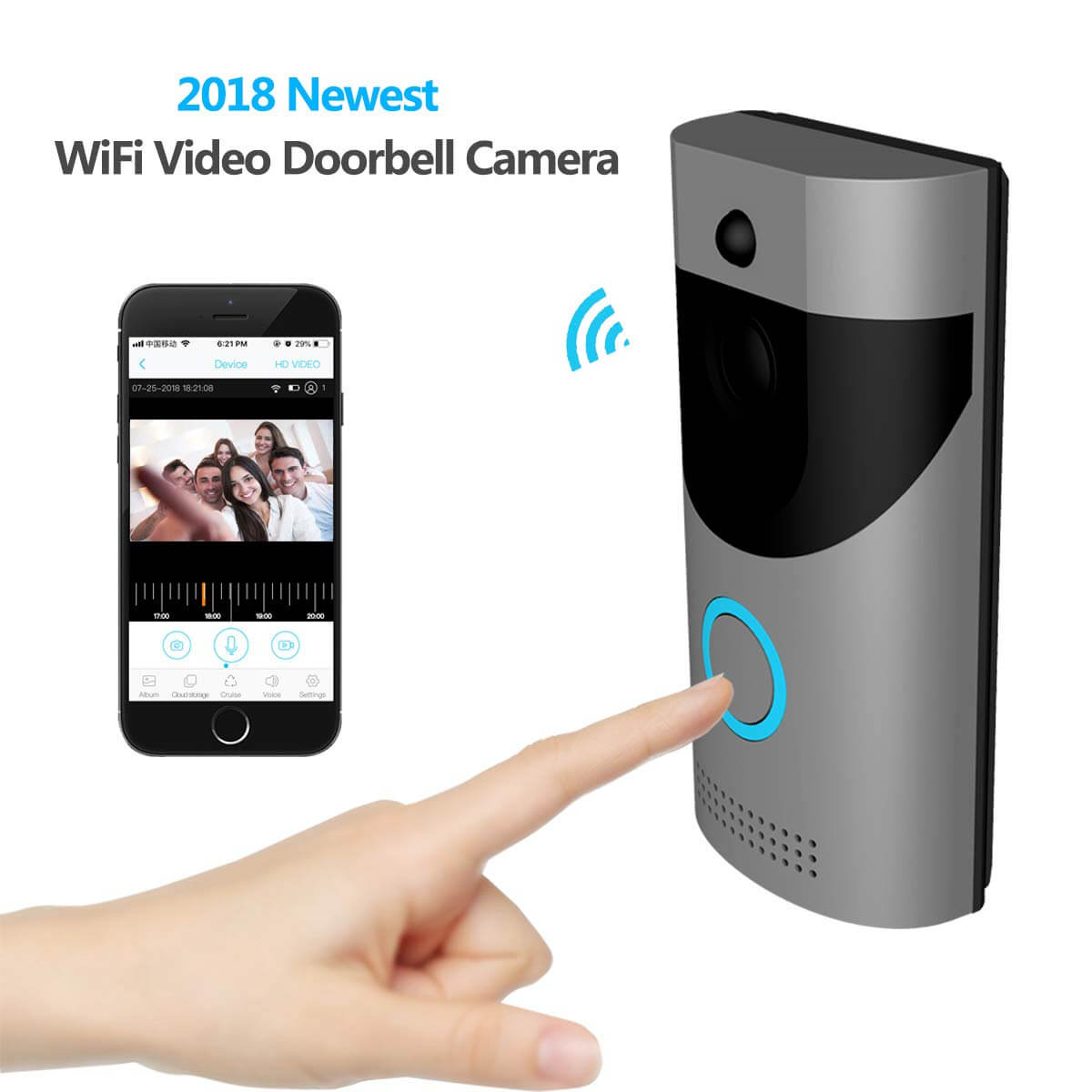 Top 10 Best Quality Smart Home Wi-Fi Video Doorbells Review-6