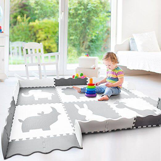 Foam Play Mats With Fence